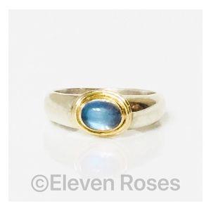 Sterling Silver & 18k Gold Moonstone Ring